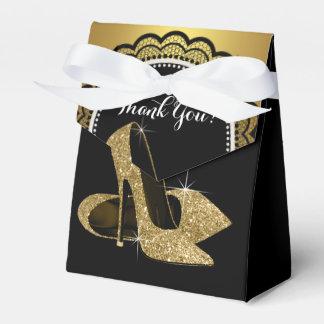 Elegante Zwart en het Goud schittert de Hoge Bedankje Doosje