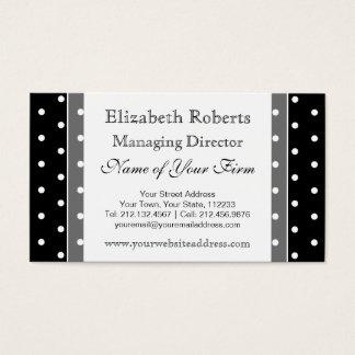 Elegante Zwart-witte Retro Stippen Visitekaartjes