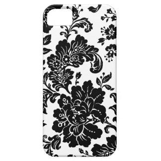 Elegante Zwarte Bloemen Barely There iPhone 5 Hoesje