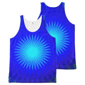 Elektrisch blauw All-Over-Print tank top