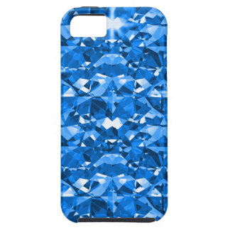 Elektrische Blauwe Diamanten Tough iPhone 5 Hoesje