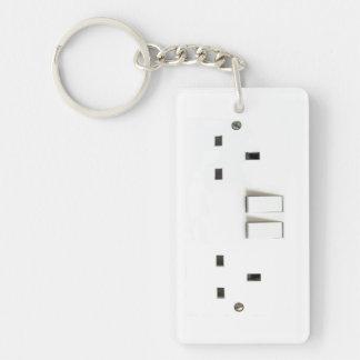 Elektrische contactdoos van het UK Sleutelhanger