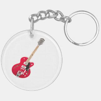 """""""Elektrische gitaar"""" giften en producten 2-Zijden Ronde Acryl Sleutelhanger"""