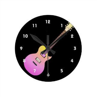elektrische gitaar roze gele gradient.png ronde klok