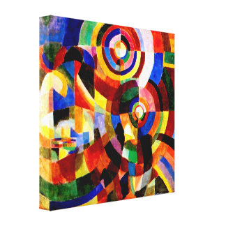 Elektrische Prisma's door Sonia Delaunay Abstract Canvas Afdrukken