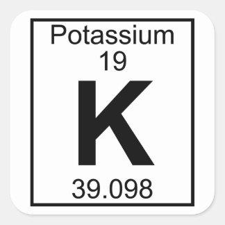 Element 019 - K - (Volledig) Kalium Vierkante Sticker