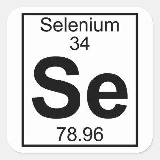 Element 034 - Se - (Volledig) Selenium Vierkante Sticker