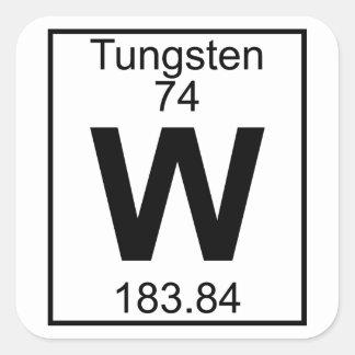 Element 074 - W - (Volledig) Wolfram Vierkante Sticker