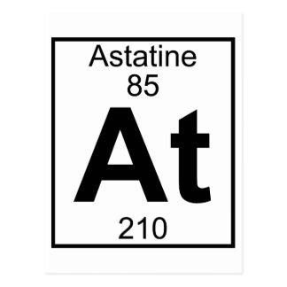 Element 085 - bij - (Volledig) Astatine Briefkaart