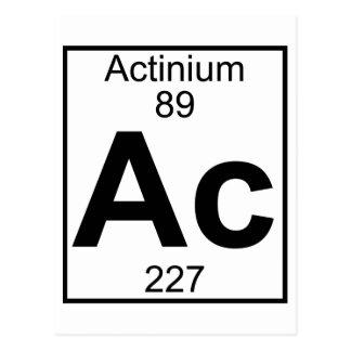 Element 089 - Ac - (Volledig) Actinium Briefkaart