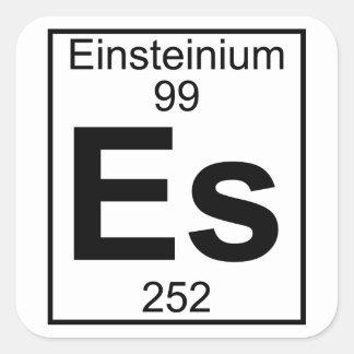 Element 099 - S - (Volledig) Einsteinium Vierkante Sticker
