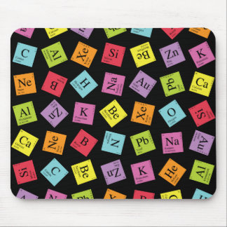 Elementaire Periodiek (Donker) Muismat