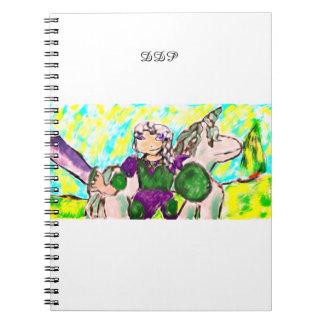 Elf en eenhoorn notitieboek