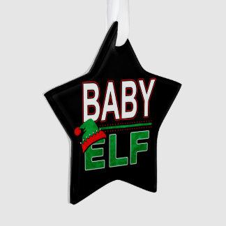 Elf   Familie   van het baby van de Vakantie van Ornament