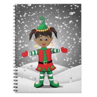 Elf in sneeuw notitieboek