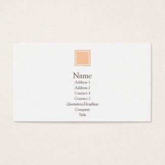 Elise - Perzik Visitekaartjes