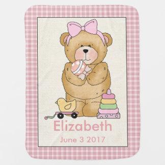 Elizabeth draagt het Gepersonaliseerde Baby Deken