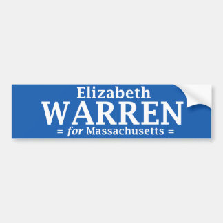 Elizabeth Warren voor de sticker van Massachusetts Bumpersticker