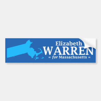 Elizabeth Warren voor Massachusetts Bumpersticker