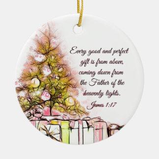 Elk Goed en Perfect 1:17 van James van de Gift, Rond Keramisch Ornament