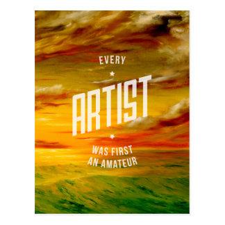 Elk Inspirerend Briefkaart van de Kunstenaar Wens Kaart