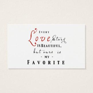 Elk Love Story is de Mooie Kaart van het Visitekaartjes