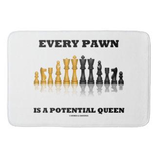 Elk Pand is een Potentiële Koningin Chess Saying Badmatten