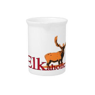 Elkaholic 2 bier pitcher