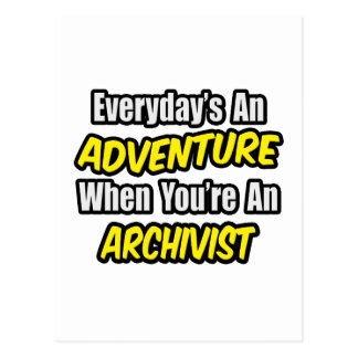 Elke dag een Avontuur. Archivaris Briefkaart