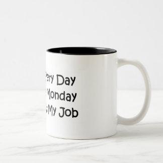 Elke Dag is Maandag Tweekleurige Koffiemok