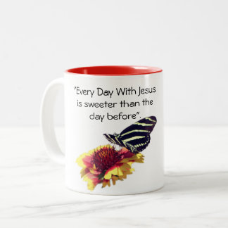 """Elke Dag met de Sweeter Than The Dag van Jesus Is Tweekleurige Koffiemok"