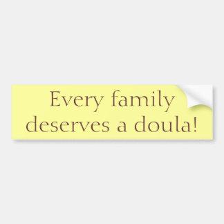 """""""Elke Familie verdient een Doula! De """"sticker van Bumpersticker"""
