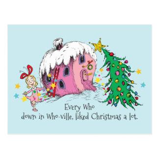 Elke Who in Who -who-ville, hield een van Kerstmis Briefkaart