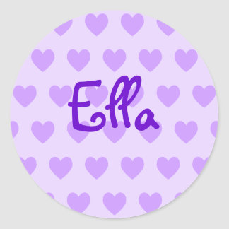Ella in Paars Ronde Sticker