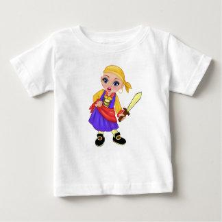 Ella Verrukte Who van de Prinses is u? Piraat Baby T Shirts
