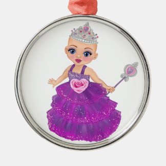Ella Verrukte Who van de Prinses is u? Zilverkleurig Rond Ornament