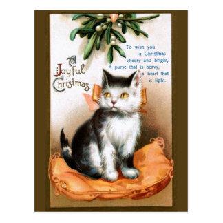 Ellen H. Clapsaddle: Kat onder Maretak Briefkaart