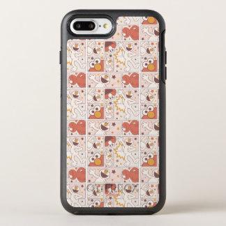 Elmo | Gelukkig Klein Grappig Patroon van het OtterBox Symmetry iPhone 8 Plus / 7 Plus Hoesje