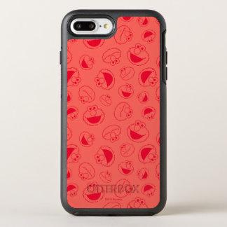 Elmo | Geweldige Rood Patroon OtterBox Symmetry iPhone 8 Plus / 7 Plus Hoesje