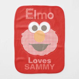 Elmo houdt van u | toevoegt Uw Naam Monddoekje