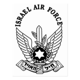 Embleem van de Luchtmacht van het Leger ZAHAL van Briefkaart