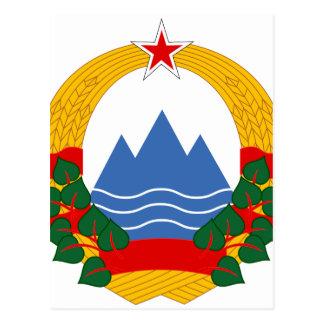 Embleem van de Socialistische Republiek Slovenië Briefkaart
