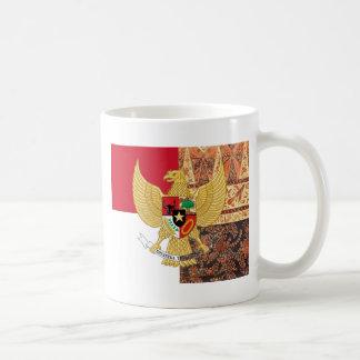 Embleem van de Vlag van de Batik van Indonesië - Koffiemok
