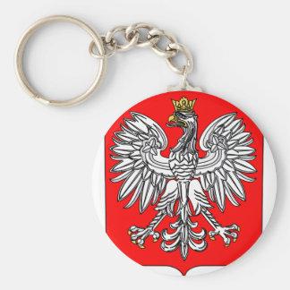 Embleem van Polen Keychain Basic Ronde Button Sleutelhanger