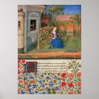 Emilia in de middeleeuwse verlichting Rosegarden Poster