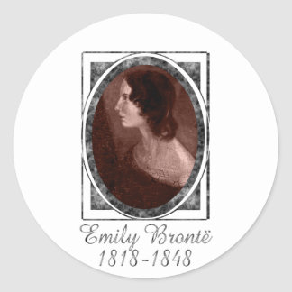 Emily Brontë Ronde Sticker