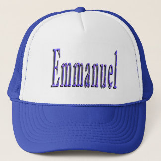Emmanuel Name Logo, Trucker Pet