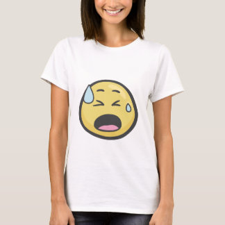 Emoji: Gezicht met Koud Zweet T Shirt