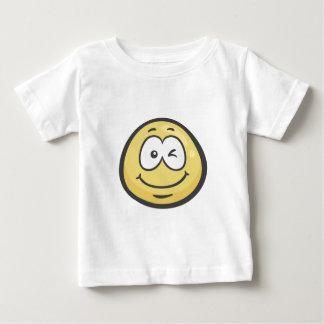 Emoji: Het knipogen Gezicht Baby T Shirts