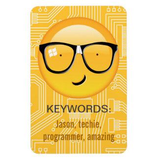 Emoji totaal Techie ID229 Vinyl Magneten